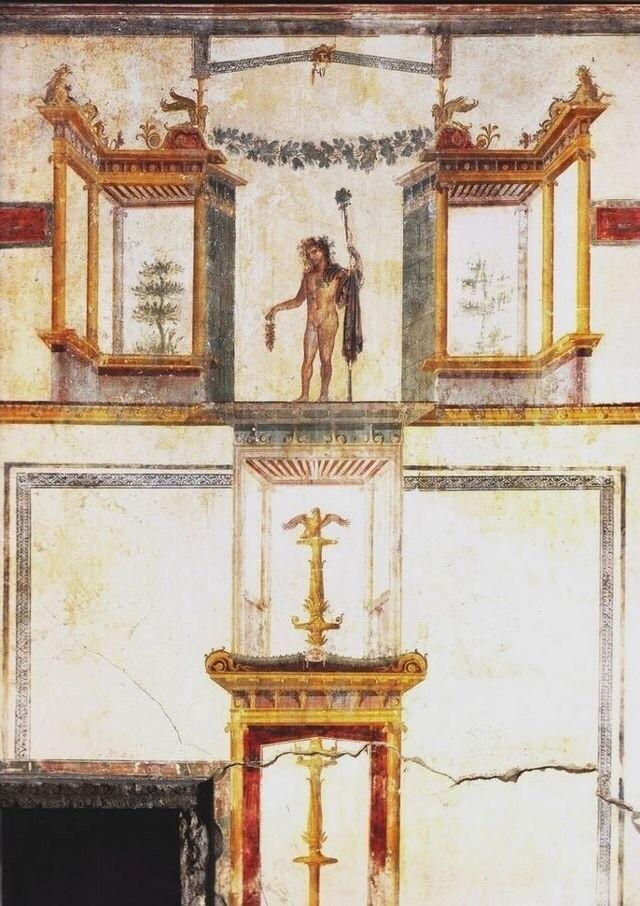 Стены в виллах Помпеи. Помпеи, Вилла, Настенная живопись, Живопись, Искусство, История, Длиннопост