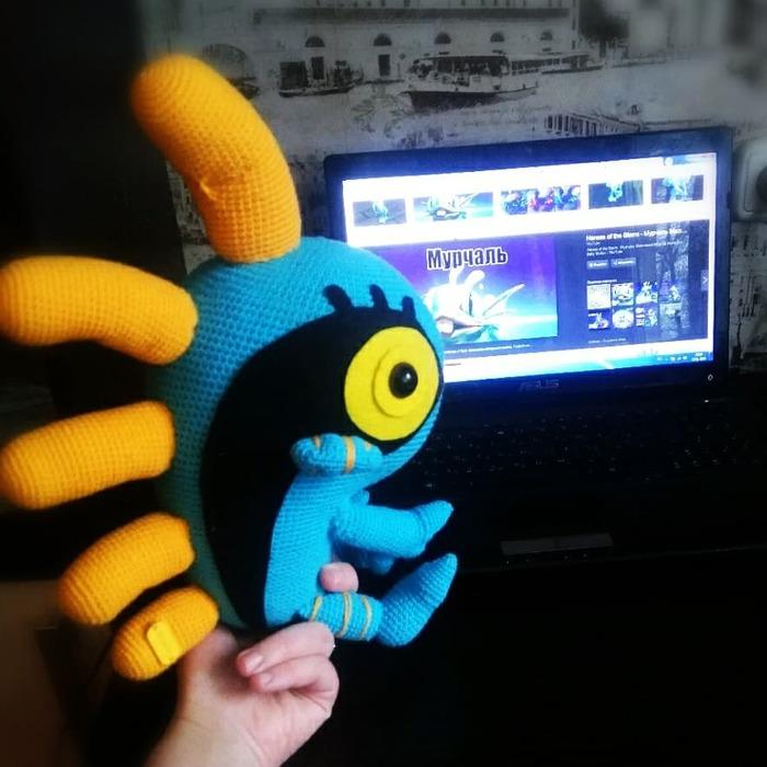 Пссс....не хотите немного World of Warcraft в ленте?!)Прошу любить и жаловать мое творение #мурлок Творчество, Вязаные игрушки
