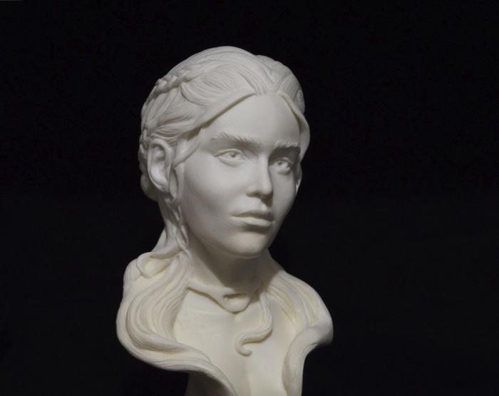 Скульптура Дейнерис Таргариен. Формат 1:3. Скульптура, Лепка, Творчество, Игра престолов, Эмилия Кларк, Длиннопост