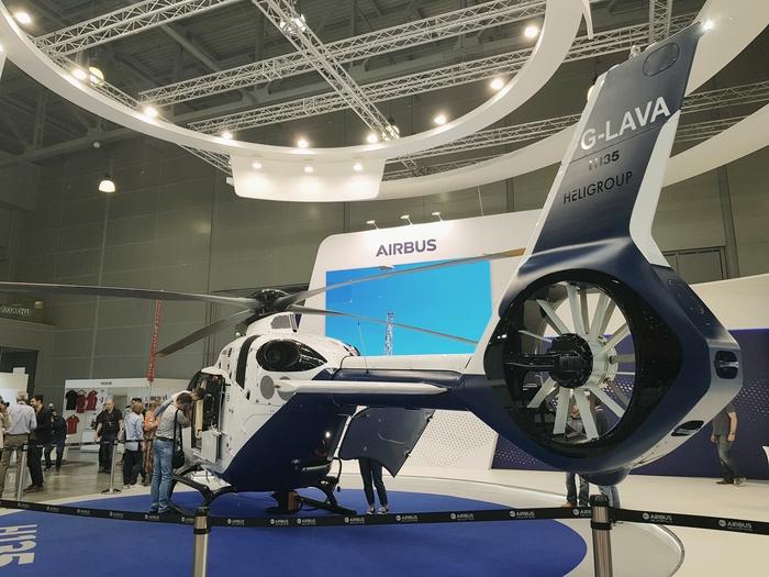 Airbus H135 Airbus, Вертолет, Авиация, Helirussia, Выставка, Длиннопост