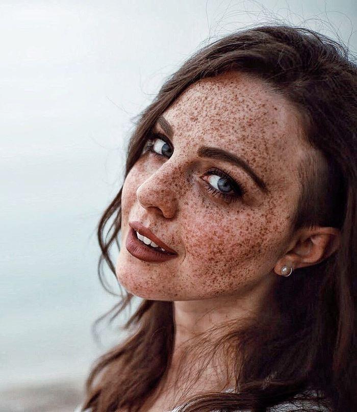Clio Regina Recinelli и её веснушки Веснушки, Красивая девушка, Рыжая девушка, Голубые глаза, Длиннопост, Фотография, Девушки