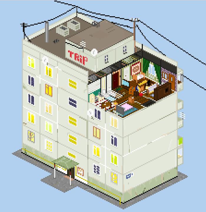 Панельный дом ll-38 Pixel Art, Арт, Powerpoint, Пиксель, Панелька, Россия