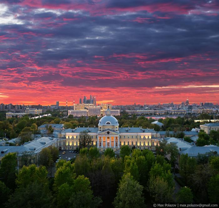 Закатное Max Polazov, Крыша, Москва, Высота, Закат, Длиннопост