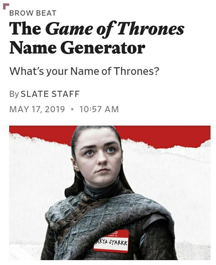 Как бы вас звали в игре престолов Игра престолов, Жаль, Длиннопост