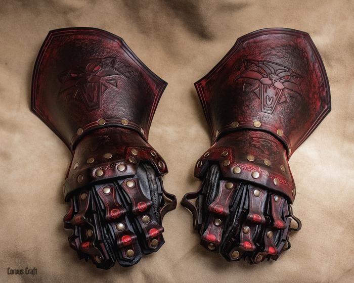 Защитные перчатки Длиннопост, Corvuscraft, Пикабу творческий, Ручная работа, Изделия из кожи, Рукоделие без процесса