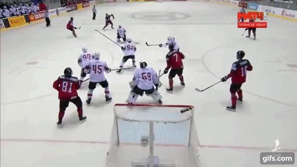 Сборной Швейцарии не хватило 0.4 секунды для выхода в 1/2 чемпионата мира Спорт, Хоккей, Хоккей ЧМ 2019, Сборная Швейцарии по хоккею, Сборная Канады по хоккею, Гифка