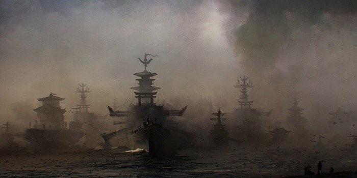 Самурайский флот Арт, Рисунок, Корабль, Флот