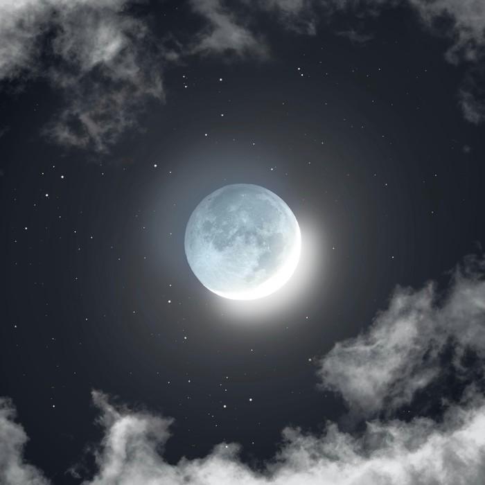 81 мегапиксельный  снимок сияние на Луне