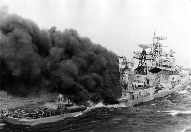 Как горят военные корабли Флот, Моряки, Интересное, История, Длиннопост