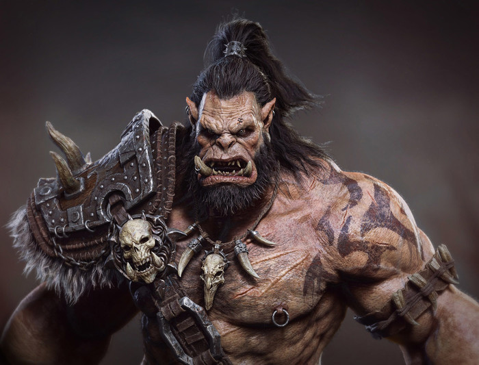 Orc. Арт, Орки, 3D, Warcraft, World of Warcraft, WOW, Длиннопост, Картинки, Орда