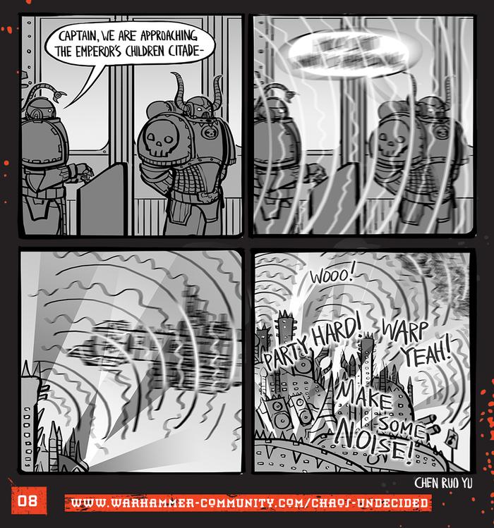 Хаос неопределённый #08 Warhammer 40k, Wh humor, Ruo Yu Chen, Комиксы, Chaos Space marines, Chaos-Undecided, Emperor`s Children