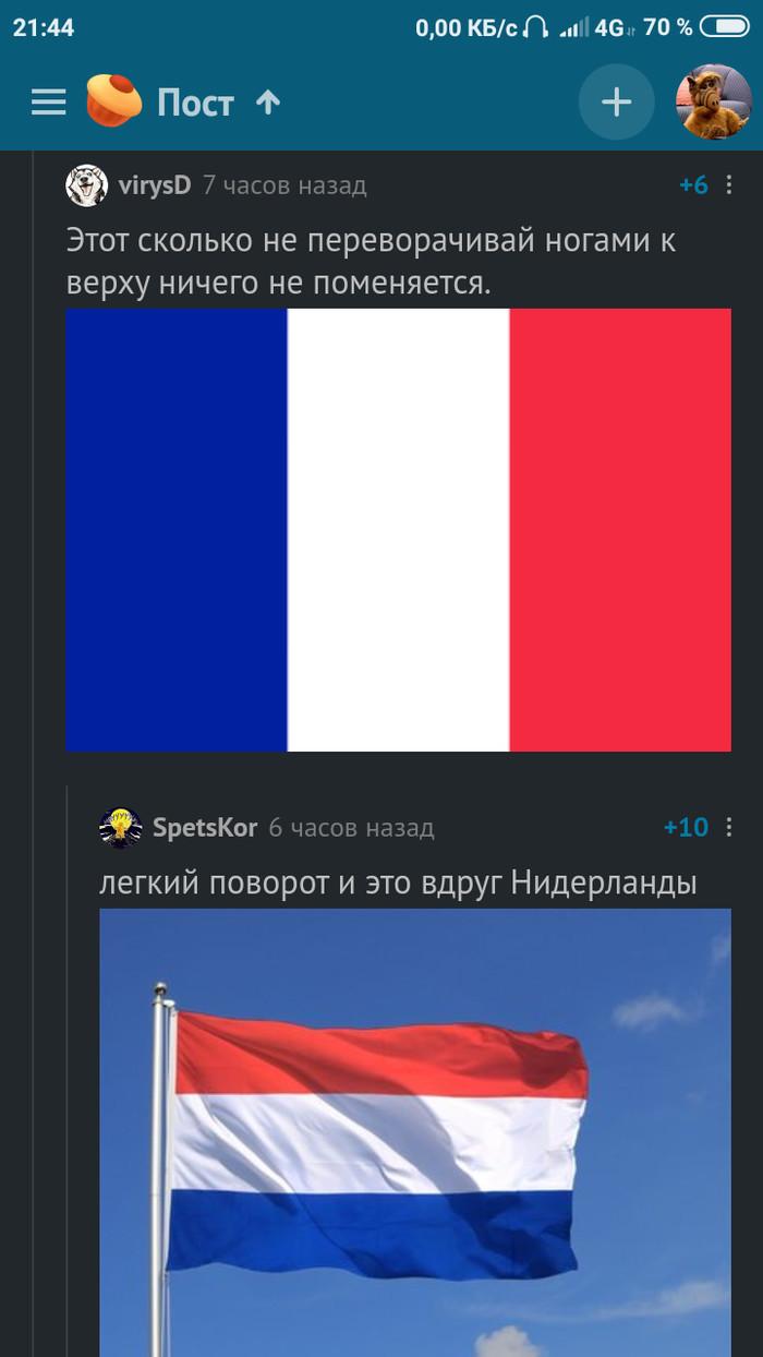 Немного о повороте и геральдике Флаг, Франция, Нидерланды, Адольф Гитлер, Скриншот, Длиннопост