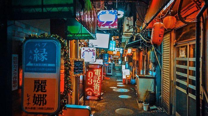 Токио ночью Токио, Япония, Ночь, Длиннопост
