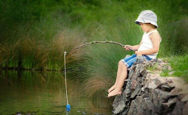Первая рыбалка. Впервые, Утро, Крик, Крючок, Щука, Уклейка, Героизм, Длиннопост, Рыбалка