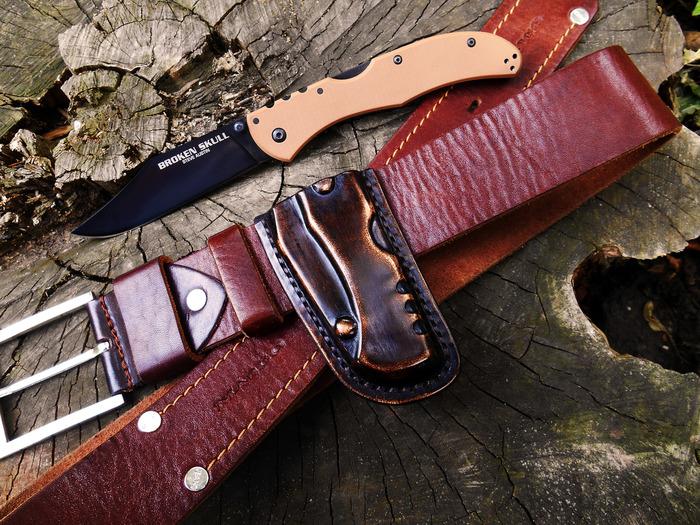 Ножны-кобура для складного ножа Своими руками, Ручная работа, Кожа, EDC, Рукоделие без процесса, Длиннопост, Ножны, Изделия из кожи