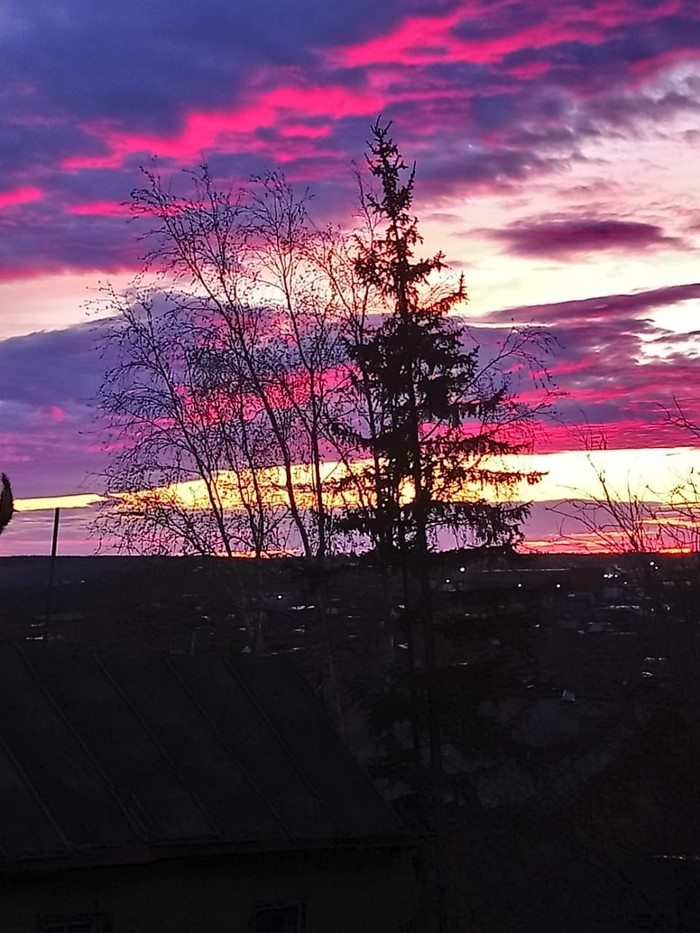 Закат в Якутии Якутия, Ночь, Закат, Фотография, Длиннопост