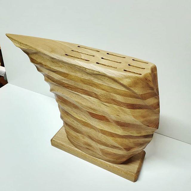 Подставка для ножей из дерева Работа с деревом, Деревообработка, Столярная мастерская, Скульптура, Длиннопост