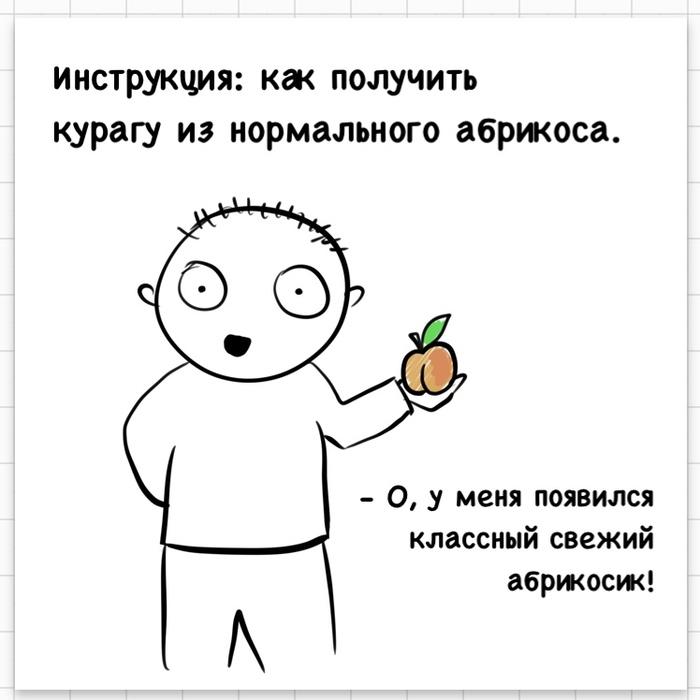 Сухофрукт Рисунок, Комиксы, Курага, Irinaikrina, Длиннопост