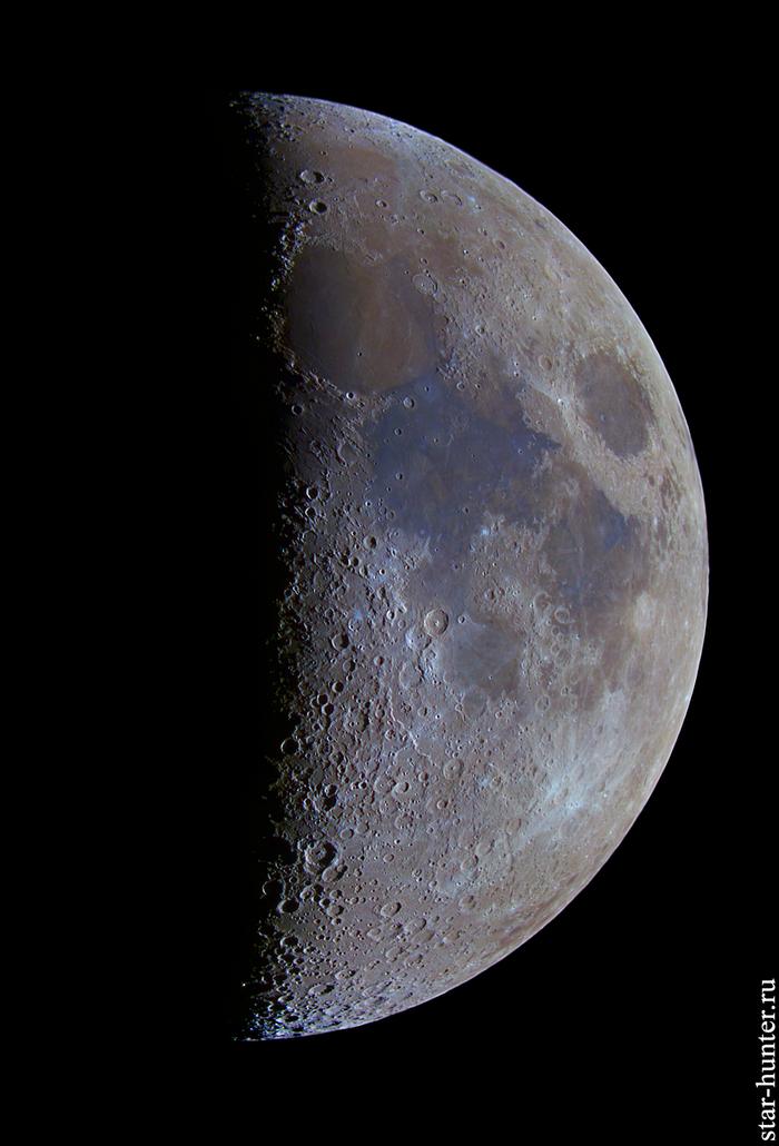 Цветная Луна, 9 июня 2019 года. Луна, Кратер, Астрономия, Астрофото, Космос, Starhunter, Анападвор