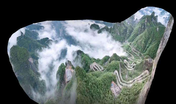 Хорошо стою, далеко гляжу 2 Китай, Горы, Смотровая площадка, Высота, Панорама