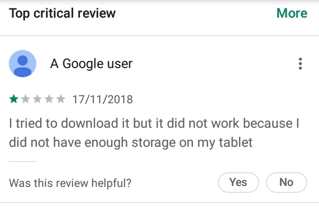 Самый популярный отрицательный отзыв Google Play, Приложение, Приложение на android, Отзыв, Юмор, Тупость