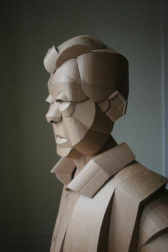 Скульптуры из картона от Warren King