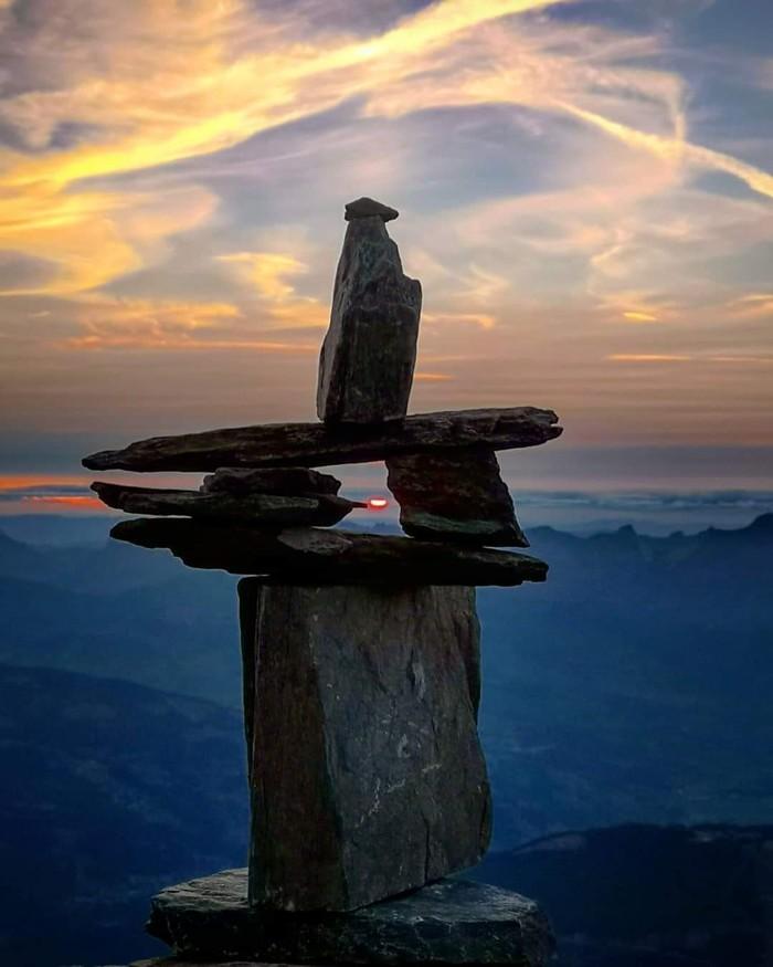 Поймать момент Горы, Закат, Момент