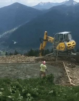 Доставка свежего бетона на высоту