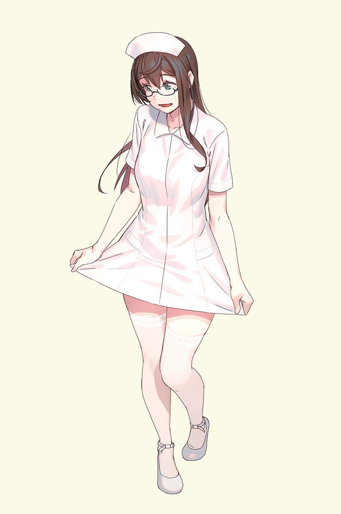 NurseYodo Kantai Collection, Ooyodo, Медсестры, Аниме, Anime Art