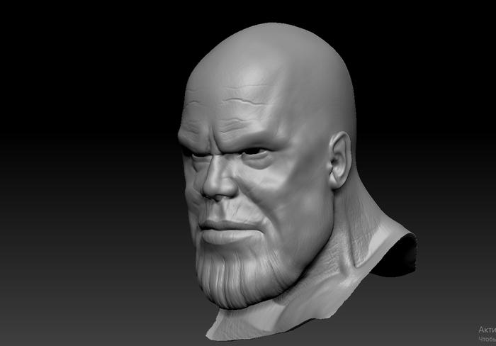 Фигурка Таноса. 3d печать Танос, Мстители, Авторская игрушка, 3D моделирование, 3D печать, Zbrush, 3D, Видео, Длиннопост