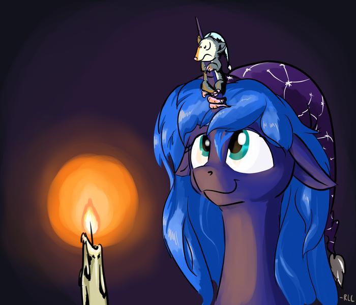 Не волнуйся, Тиберий. Скоро взойдет луна, и прогонит страшный день! My Little Pony, Princess Luna, MLP Tiberius, Rocket-Lawnchair