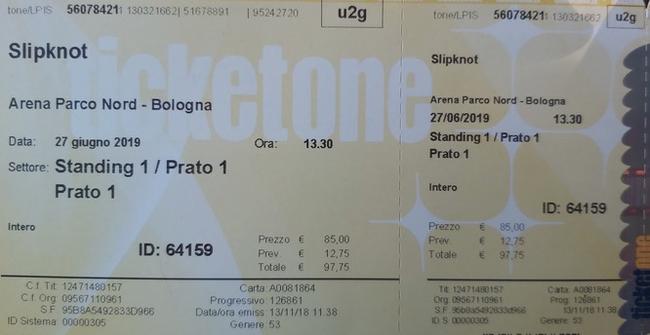Отдам билет на Slipknot 27.06. Билет, Отдам, Италия, Путешествия, Концерт, Slipknot, Рок, Без рейтинга