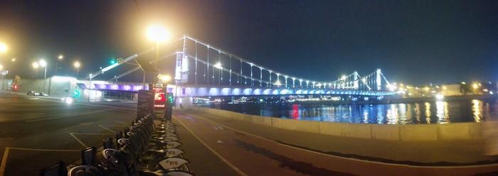 Вечерние набережные Москвы Велопрогулка, Москва-Река, Фото на тапок, Крымский мост, Андреевский мост, Мост, Москва