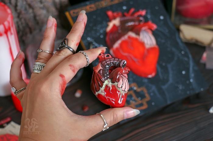 Сердечко Ручная работа, Полимерная глина, Сердце, Рукоделие без процесса, Длиннопост