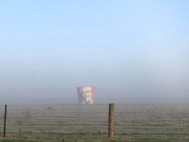 В туманном поле Туман, KFC