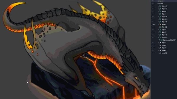 Анимация в DragonBone для художников часть 1 Анимация, Статья, Dragonbone, Туториал, Обучение, Самообразование, Длиннопост, Гифка, Видео