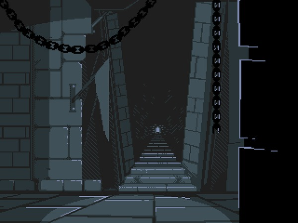 Забытая лестница Pixel Art, Лестница, Гифка, Coub
