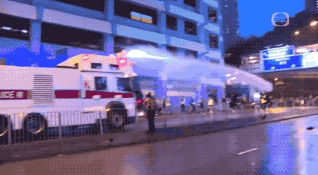 Протесты в Гонконге глазами китайских СМИ Политика, СМИ, Гонконг, Протест, Полиция, Гифка, Длиннопост