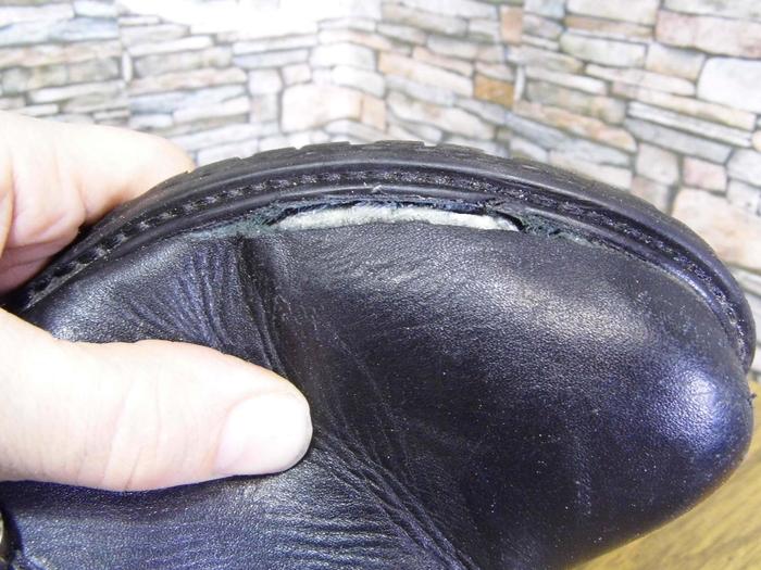 Когда нашли прорыв кожи сбоку Ремонт обуви, Мат, Длиннопост