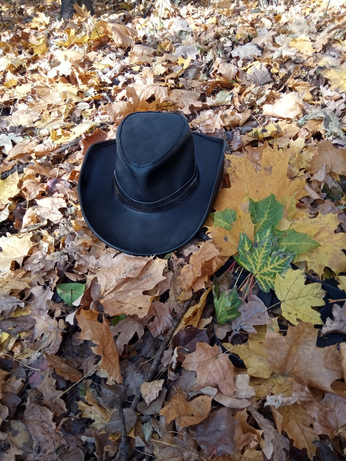 Широкополая шляпа Кожа, Кожевенное ремесло, Шляпа, Ручная работа, Рукоделие без процесса, Своими руками, Изделия из кожи, Длиннопост