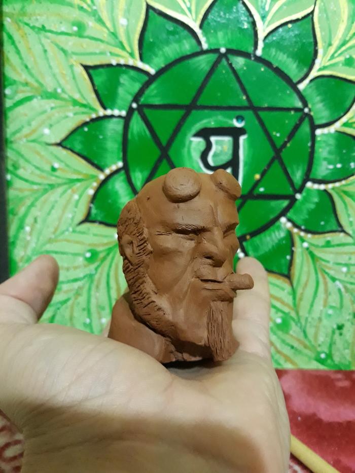 Глиняные портреты. Мое Рукоделие без процесса, Керамика, Глина, Скульптура, Своими руками, Длиннопост, Хеллбой