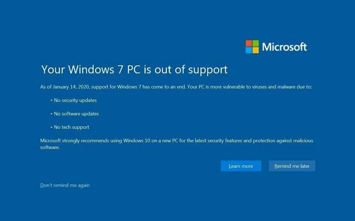Вот и он, конец поддержки Windows 7 Windows 7, Конец, Поддержка, Лайфхак, Способ, Уведомление, Полезное
