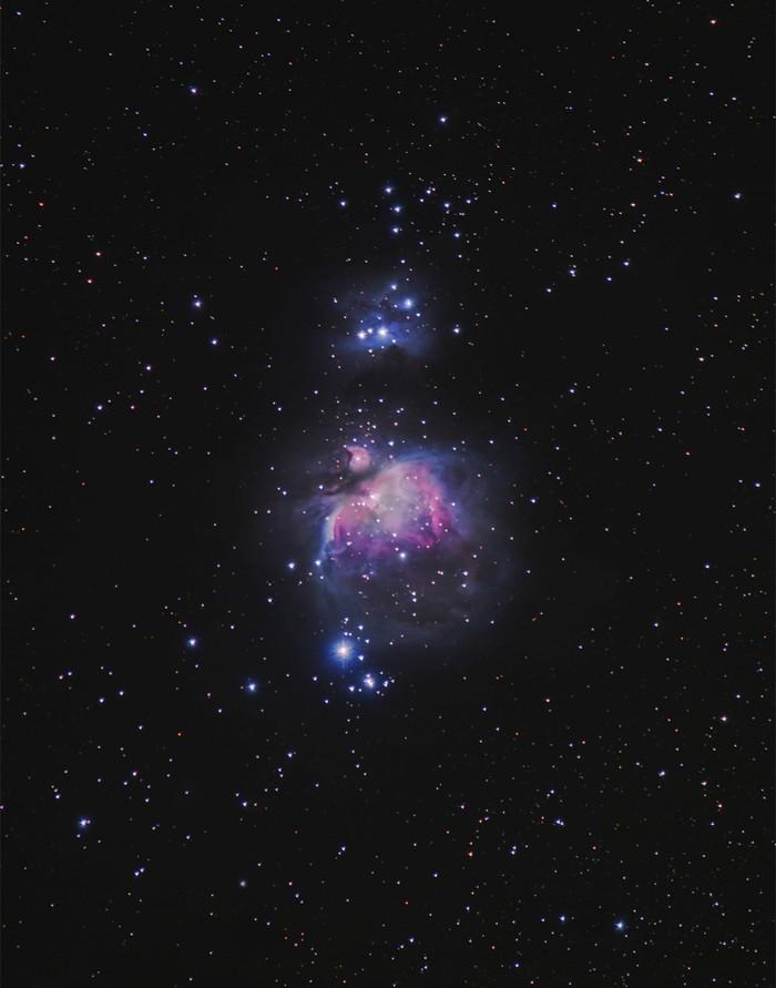 Большая туманность Ориона - жемчужина зимнего ночного неба!