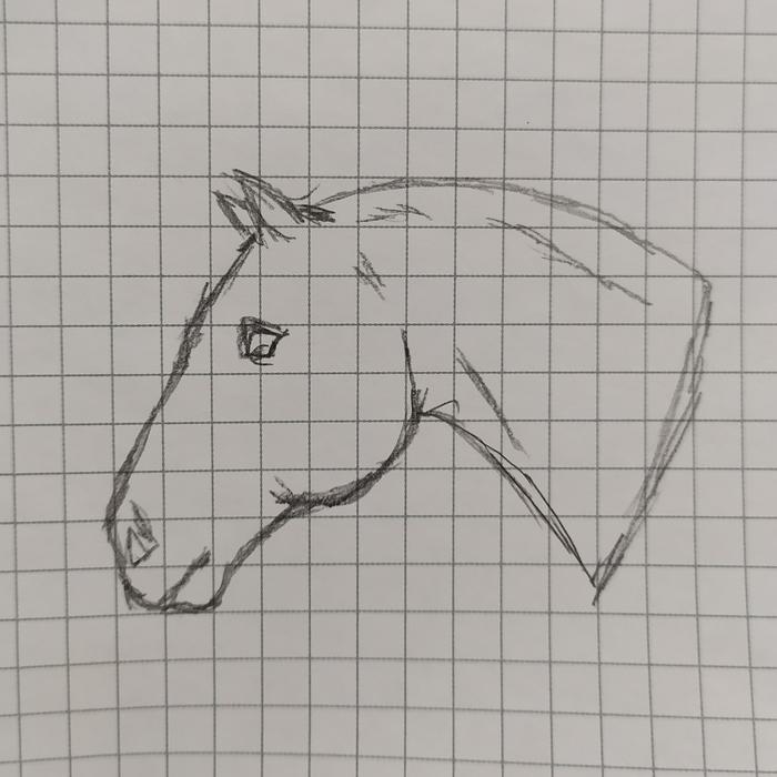 Брошь с рыжей лошадью