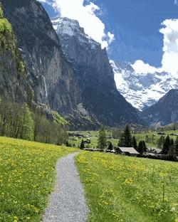 На прогулке в Лаутербруннен, Швейцария