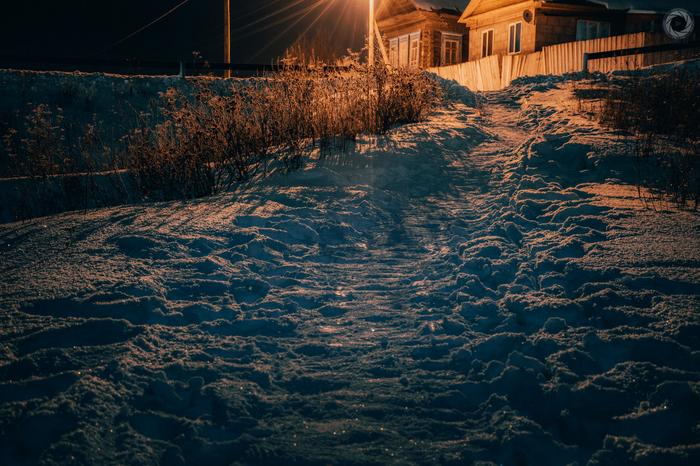 Зимняя ночь в одном из сёл