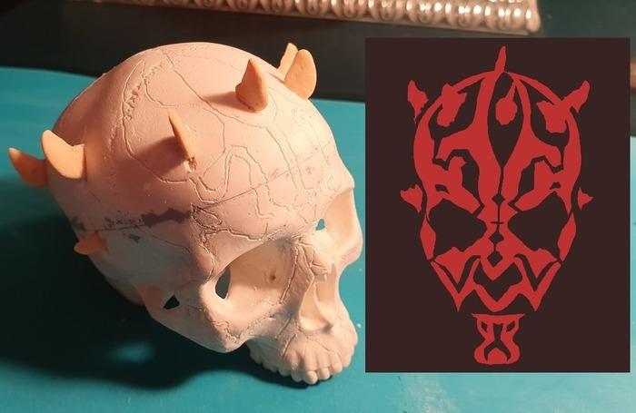 Прокачка китайского пластикового черепа, до черепа карликового Дарт Мола(Darth Maul). Шизофренический рассказ с картинками. 2 часть