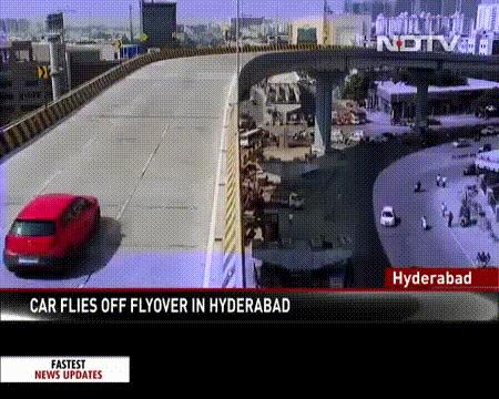 Жесткое приземление gif Индия, Авария, ДТП, Мост, Гифка