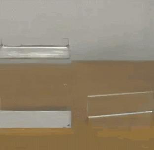Стеклянный брусок и шарик Физика, Машина Голдберга, Гифка