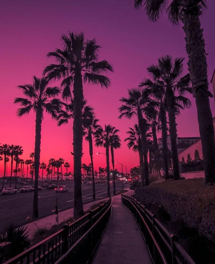 Закат на Хантингтон-Бич, Калифорния